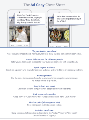 Facebook Ad Copy Cheat Sheet