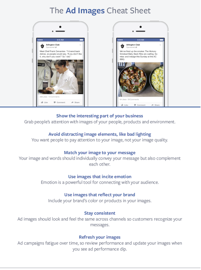 Facebook Ad Images Cheat Sheet