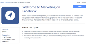 Facebook Blueprint Lesson Overview