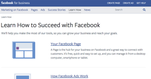 Facebook for Business Learn How