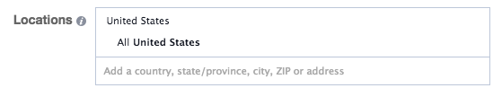 Facebook Location Targeting Address