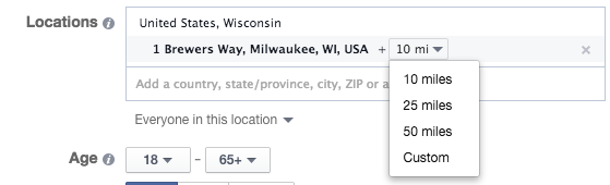 Facebook Location Targeting Address