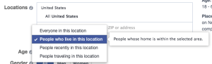 Facebook Location Targeting Home