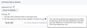 Facebook Clicks to Website Bidding Manual