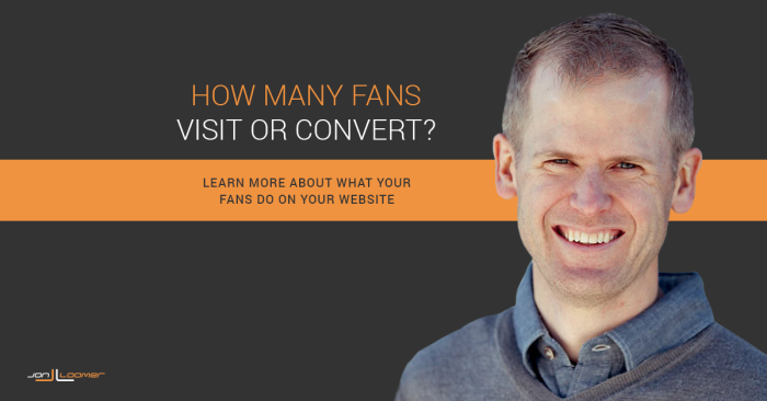 Facebook Fans Website Visit Conversion