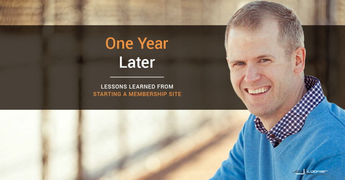 Lessons Learned One Year After Starting a Private Membership Site