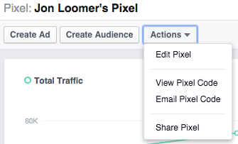 New Facebook Ads Manager Pixels Actions