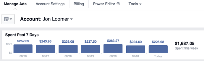 New Facebook Ad Reports Top Nav