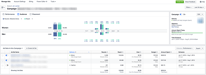 New Facebook Ads Manager Audience