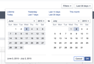 New Facebook Ads Manager Dates