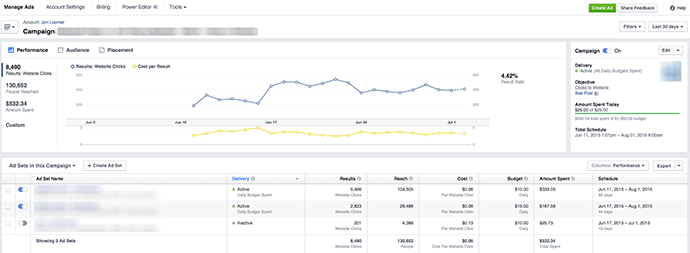 New Facebook Ads Manager Performance