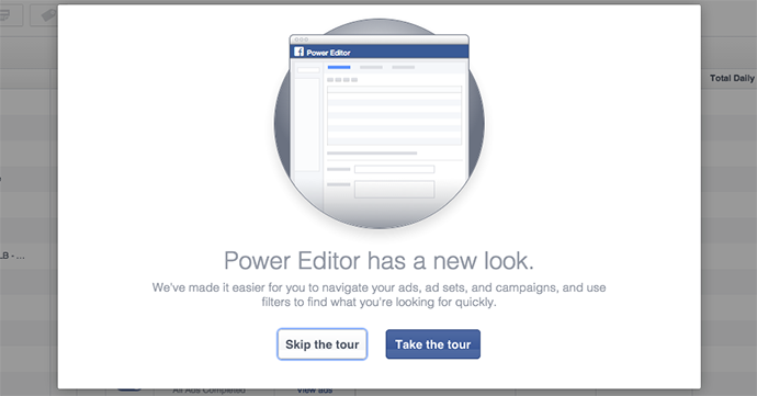New Facebook Power Editor