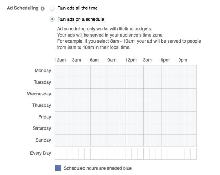 Facebook Ad Schedule