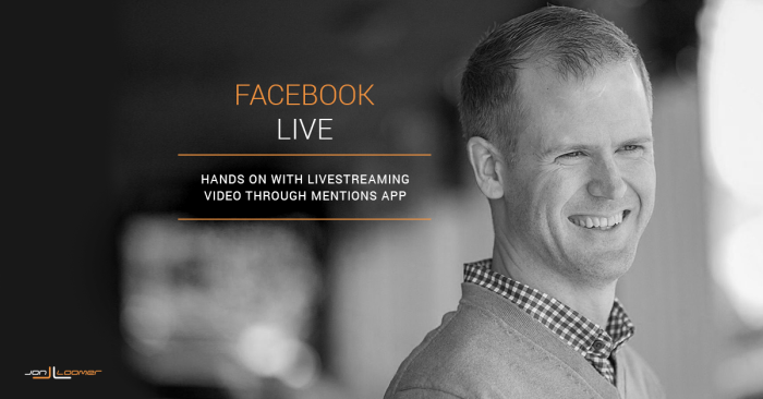 LIVE: Hands On With Facebook Livestreaming Video Through Mentions
