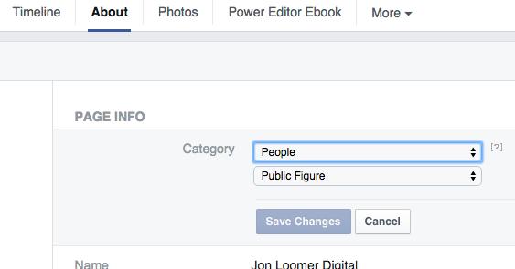 Facebook Page Public Figure