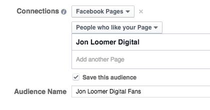 Facebook Saved Audiences