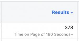 Facebook Ads Manager Results Column