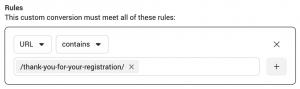 Facebook Custom Conversions