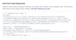 New Facebook Pixel