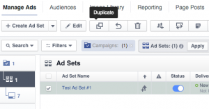 Facebook Ad Set Duplicate