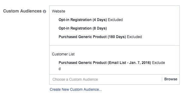 Facebook Ad Set Edit Audience