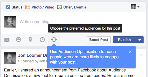 Facebook Audience Optimization Publisher