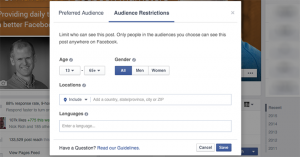 Facebook Audience Restrictions