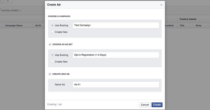 Facebook Create Ad
