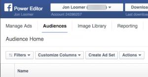 Facebook Power Editor Audiences