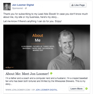 Facebook Evergreen Campaign About Me
