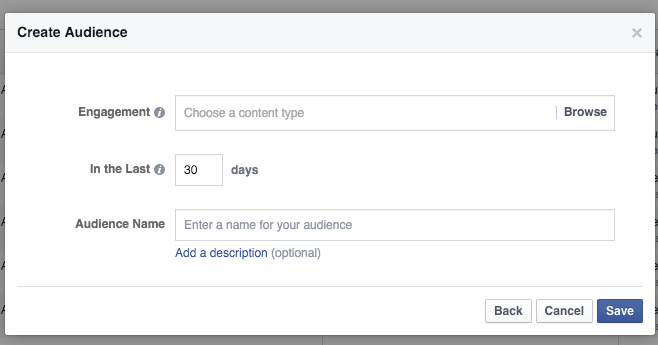 Engagement on Facebook Custom Audience