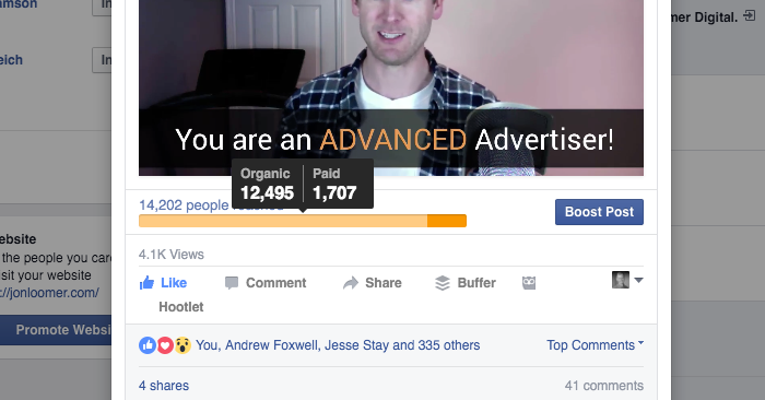 Facebook Ad Organic Reach