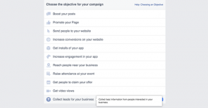 Facebook Lead Ads Ad Create Tool