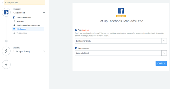 Facebook Lead Ads Zapier