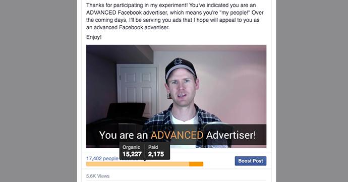 Facebook Video Organic Paid