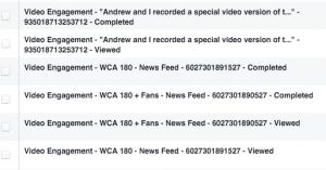 Video Views Custom Audiences