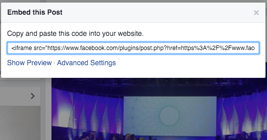 Facebook Embedded Post