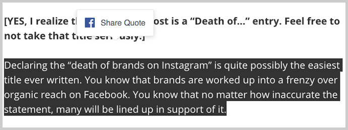Facebook Quote Sharing