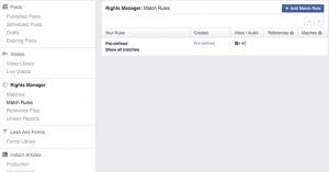 Facebook Rights Manager