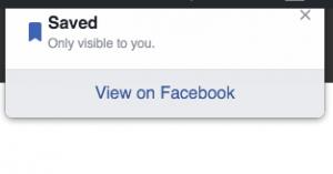 Facebook Save Post