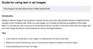 Facebook Text Ad Images Guide