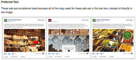 Facebook Text Ad Images Guide Preferred