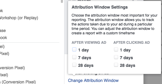 Facebook Attribution Window