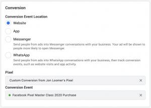 Facebook Conversion Event