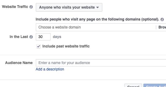 Facebook Time on Website Custom Audiences