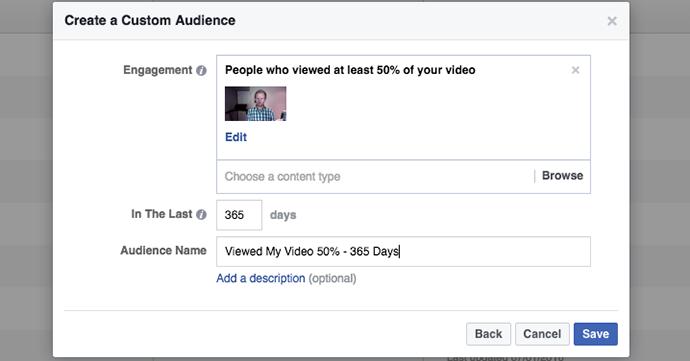 Video Views Engagement on Facebook Custom Audiences