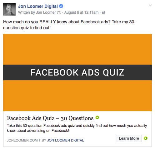 Facebook Ads Quiz