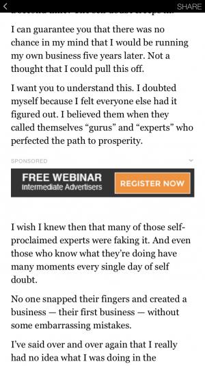 Facebook Instant Articles Custom Ads