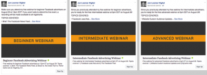 Facebook Lead Ads Webinars