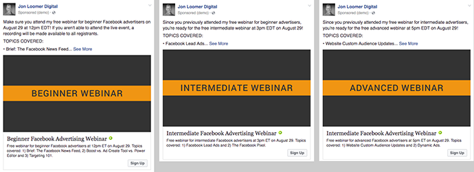 Facebook Lead Ads Webinars